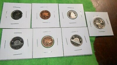 Canada/Canadian Lot Of Proof 1990 Small Cent 5 Cents 10 10 Cents 1990 25 Cents+