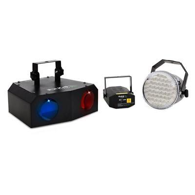 Disco Pro Dj Stage Lighting Set 2-Way Led Moonflower 10W Strobe Red/Green Laser