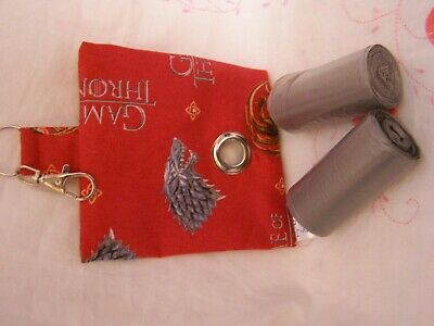 Handmade Fabric Dog Poo Poop Bag Holder Dispenser Game Of Thrones B Fabric