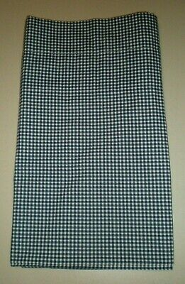 JCPenney Balloon / Straight Valance Navy Blue White Gingham Check Country Farm