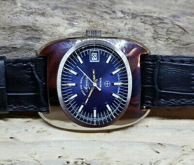 Vintage Nos West End Watch Co., Blue Dial Date Auto Man's Watch