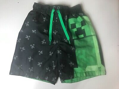 4f08d631d7 MINECRAFT CREEPER SWIMMING Trunks Shorts Size 4/5 6/7 8 10/12 14/16 ...