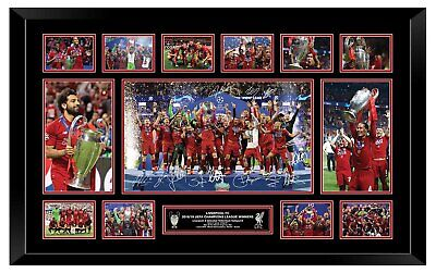 Liverpool 2019 Champions League Signed Limited Edition Framed Memorabilia