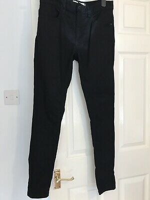 Mens Next Super Skinny Black Jeans Size 30 R