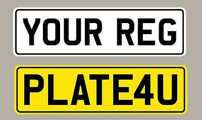 Number Plate Stickers Show Plates Choose Your Own Text