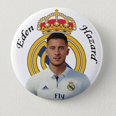 Pin Button Badge Ø56mm  EDEN HAZARD au Real Madrid