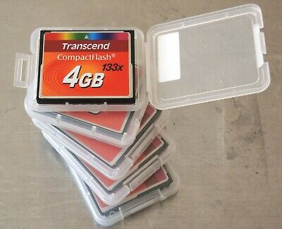 5 x Transcend CF 4GB 133x High Speed Compact Flash Memory Cards