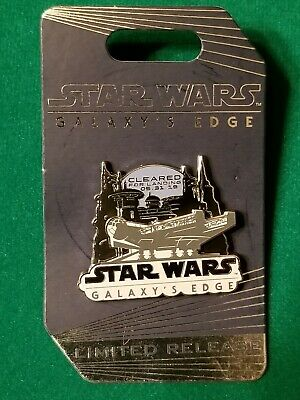 Disney STAR WARS Galaxy's Edge LIMITED RELEASE Opening Day Millennium Falcon Pin