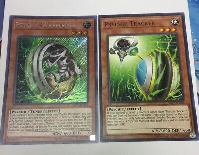 Psychic Wheeleder SAST-EN024 SECRET NM X1 + Psychic Tracker SAST-EN025