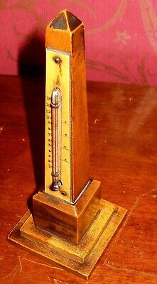 Mauchline Ware (Jersey) Obelisk Thermometer