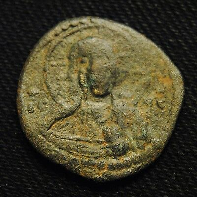 Æ Class G Anonymous Follis Romanus IV AD 1068-71 Rv Virgin Mary 7.45 gr 24-5mm