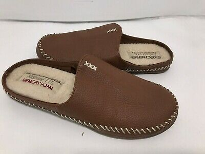 Skechers Relaxed Fit Memory Foam Slip On Leather Mule Size 6/ 36