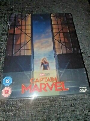 Captain Marvel 3D + 2D Blu-Ray UK Limited Edition Sold-Out Steelbook New PreSale