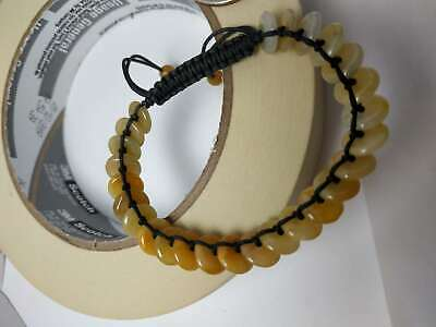 100% Natural Burma Jadeite Jade adjustable woven safety buckle bracelet A#188