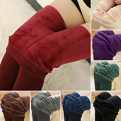 Women's Winter Warm Fleece Lined Thick Thermal Stretchy Skinny Leggings Pants