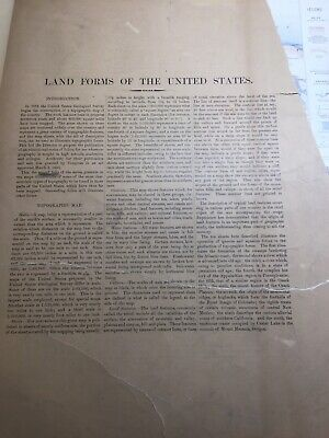 Geologic Atlas of the United States Folio LAND FORMS OF THE US 1894