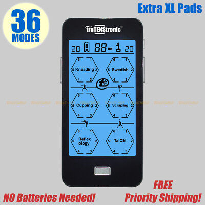 TENS Unit Machine Electrotherapy Electric Pulse Massager 36 modes Stenosis XL