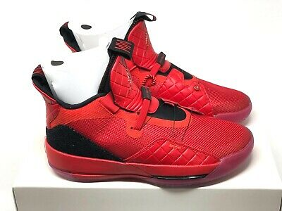 8e9f0224d53 Nike Air Jordan 33 XXXIII University Red Shoes Red 8.5 10.5 Quilted AQ8830  600