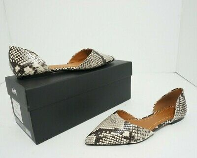 6863bbe6bb2e Coach Snaked Printed Exotic Women's Pointy Toe Flats natural Size US 6.5  $195