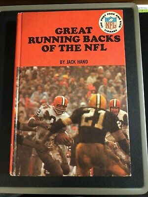 GREAT RUNNING BACKS of the NFL by Jack Hand 1966 Punt Pass Kick HC Sayers Brown