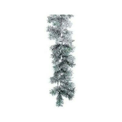 Snowy Canadian Garland, Colour: Green/white, Size: 270cm (1204588)