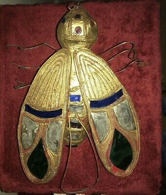 *Vintage Antique Style Indian Mirrored Gilded Wooden Large Decorative Bee