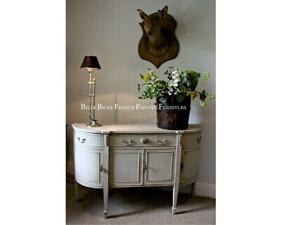 French Painted George III Style Bow Fronted Sideboard