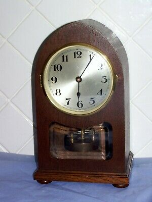 Rare Lancet Timber 400 Day Disc Pendulum Torsion Anniversary Uhr Not Dome Clock