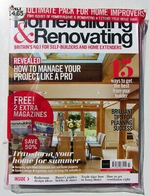 Homebuilding & Renovating Magazine July 2019 ~  3-In-1 Mag Pack ~ New ~