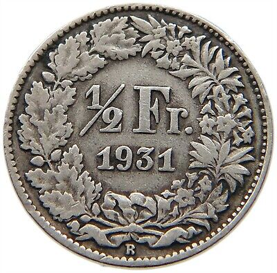 SWITZERLAND 1/2 FRANC 1931    #rv 157
