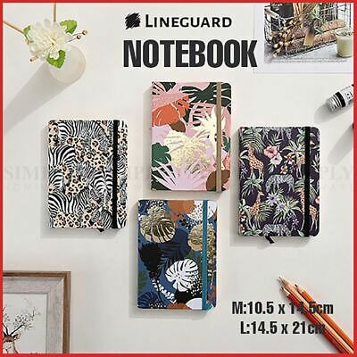 Journal Notebook Hardcover Cardboard Grid Diary 96pages Stationery Flowers Plant