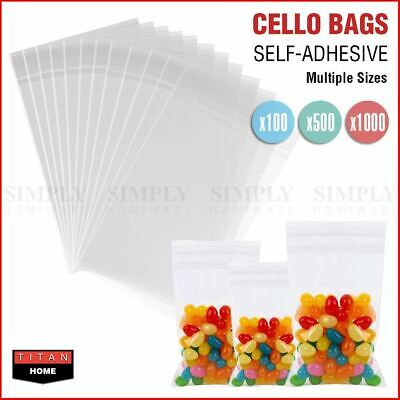Clear Lolly Bags Self Seal Cello Plastic Adhesive Resealable OPP Cellophane Bulk