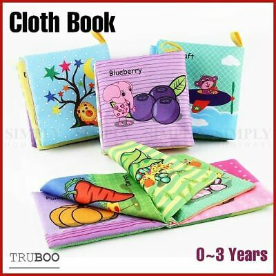 Cloth Book Activity Baby Kids Learning Fabric Shape Travel Toy Wash Preschool AU