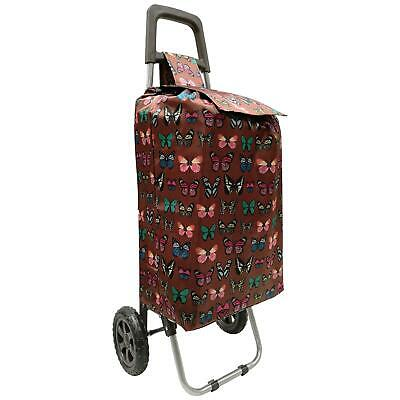 2 Wheels Lightweight Folding Funky Music Festival Shopping Trolley Luggage Bag