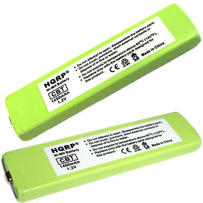 2-Pack HQRP Battery for JVC Portable CD / MD / MP3 Player, BN-R127 BN-R1210