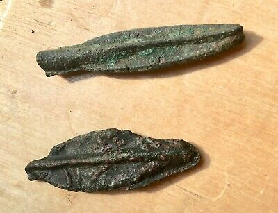 Celtic Bronze Arrowhead Proto Money x 2 Baltics 2nd-1st Century BC