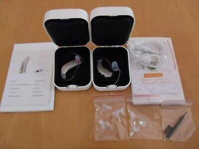2 Rechargeable Digital Hearing Amplifier Aid Ric Smart Programs ,Noise Reduction