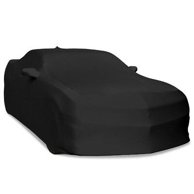 2010 - 2015 Chevy Camaro Stretch Satin Indoor Car Cover - Black