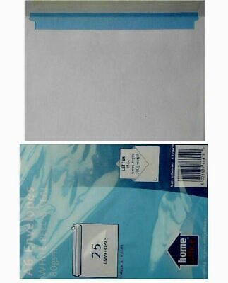 50X A6 White Peel And Seal Envelopes Home Office 114mmx162mm