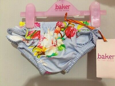 New Ted Baker Baby Girls Floral Frilly Pants 2 Pack 6-9m