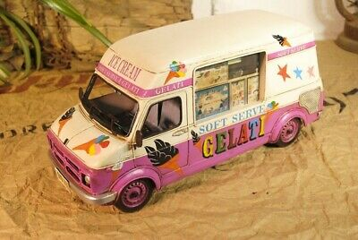 Boyle Ice Cream Truck With Great Detailed Vintage Model Collectibles Artwork