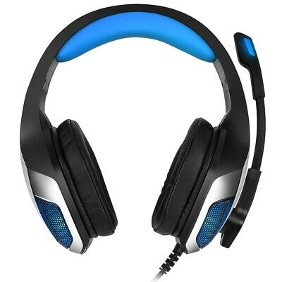 Hunterspider V - 4 3.5mm Headsets Bass Gaming Headphones with Mic LED Light for
