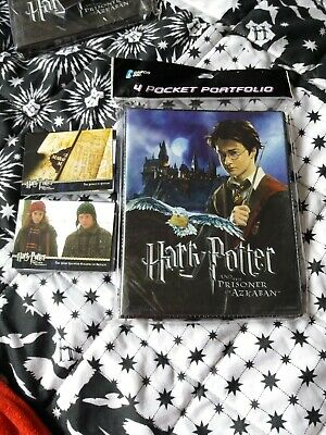 Harry Potter and the Prisoner of Azkaban Folder card case and approx 80 Cards