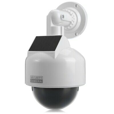 Solar Energy Realistic Dummy Dome Camera Surveillance Security with CCTV