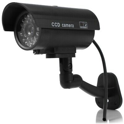 Small Dummy Camera CCTV Sticker Surveillance 90 Degree Rotating with Flashing