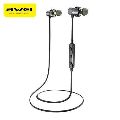 Awei X670BL Dual Drivers Magnetic IPX4 Wireless Bluetooth Earbuds Earphone