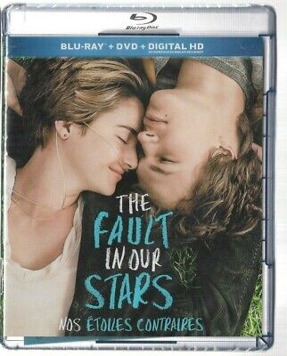 Sealed Blu-Ray +  DVD + DIGITAL HD  -  THE FAULT IN OUR STARS - Also In French