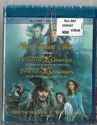 Sealed - Blu-Ray - DVD + DIGITAL HD - PIRATES OF THE CARIBBEAN Also In French