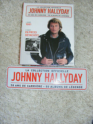 JOHNNY HALLYDAY : livre+cd  collection officielle 1981 en piéces détachées