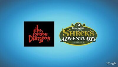 unique code to book 2 Shrek or 2 London dungeon tickets, you choose time + date